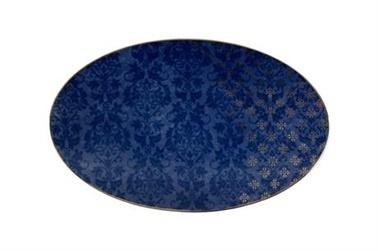 Porland Evoke Desen2 Mavi Kayık Tabak 32cm Renkli